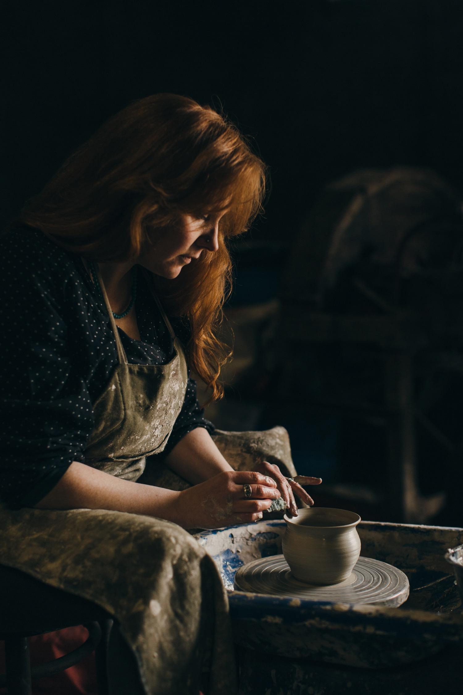 Ciara Campbell Ceramics - The potter at work