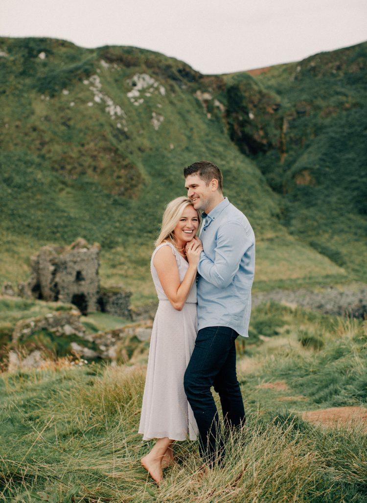 romantic irish castle engagement session