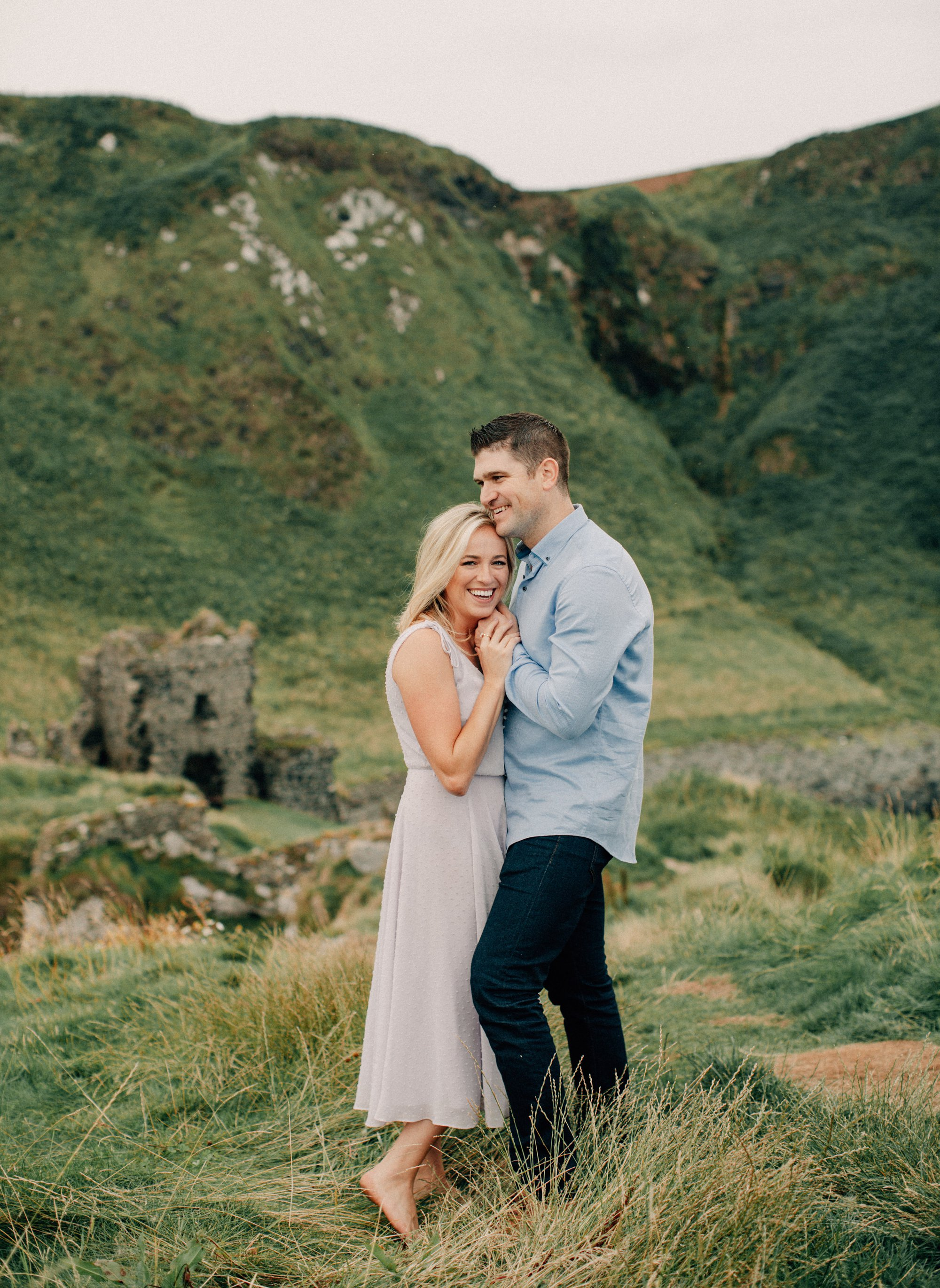 romantic irish castle engagement session