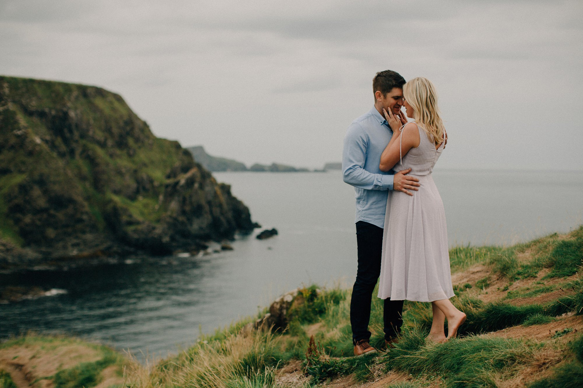 irish coastal couple session